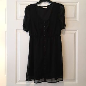 Black dotted Swiss dress